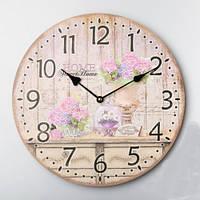 """Круглые настенные часы """"Домашний уют"""" (35 см)"""