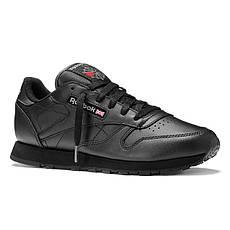Кроссовки рибок CL leather (3912) черные, фото 2