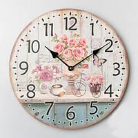 """Круглые настенные часы """"Букеты цветов"""" (35 см)"""