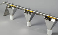 5317-0030 Устройство для опорожнения 3 воронки, длина 100 см