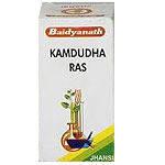 Камдудха раса Kamdudha Rasa (25tab) при жаре, жажде, головокружении, головных болях, кровотечении из носа