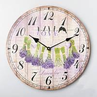 """Оригинальные круглые настенные часы """"Лаванда"""" (35 см)"""