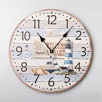 """Оригинальные круглые настенные часы """"Маяк"""" (35 см)"""