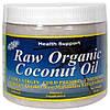 Сырое очищенное кокосовое масло, Health Support, 453 г