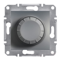 EPH6400162. Светорегулятор Поворотный. 40-600VA. Сталь. Asfora plus