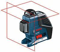 Линейный лазерный нивелир (построитель плоскостей) Bosch GLL 2-80 P + BS 150 + вкладка под L-Boxx (0601063205)