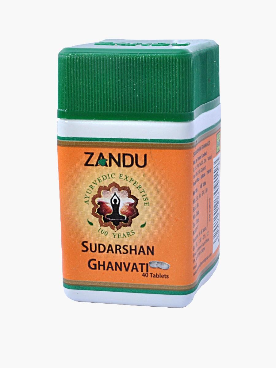 Сударшан гхан вати, Sudarshan Ghan Vati (40tab) общеукрепляющее, тонизирующее, жаропонижающее и глистогонное