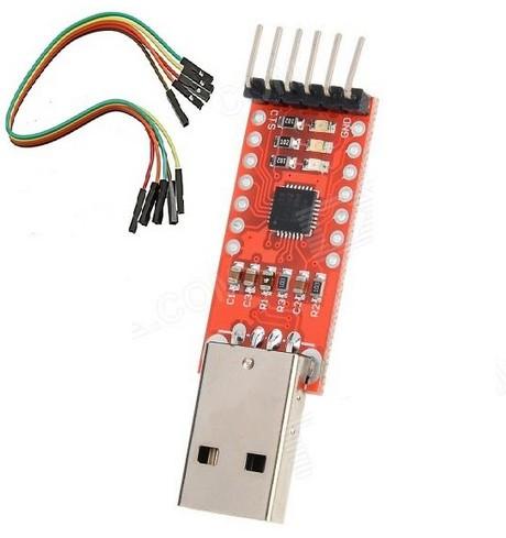 Адаптер конвертер переходник CP2102 USB 2.0 для TTL UART 6PIN модуль с Dupont проводами