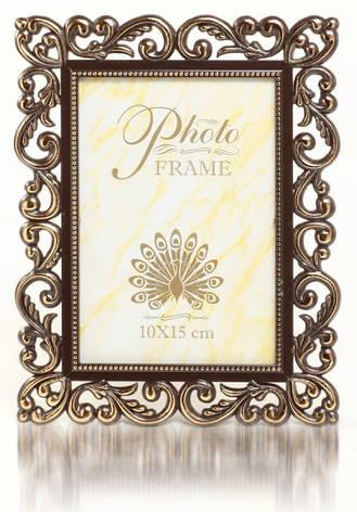 Фоторамка 10х15 коричневая, фото 2