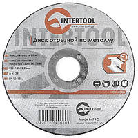 Круг отрезной по металлу 125*1.0*22.2мм INTERTOOL CT-4006