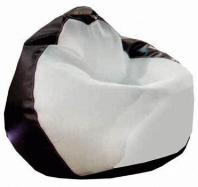 Кресло-груша Белладжио бело/коричневая