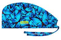Медицинская шапочка с бабочками