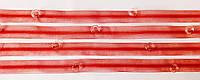 Тесьма  с  кольцами  силиконовая  красная