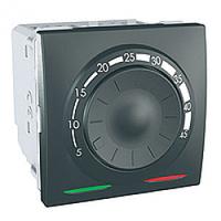 MGU3.503.12. Термостат для теплого пола. С датчиком. 10A. (+5.45°С). Графит Unica