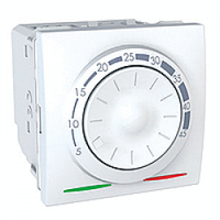 MGU3.503.18. Термостат для теплого пола. С датчиком. 10A. (+5.45°С). Белый Unica