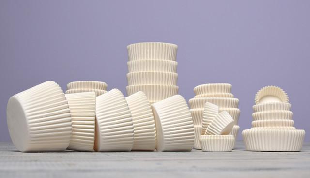 Белые бумажные формочки, 2000 шт
