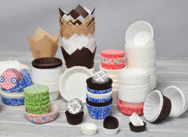 Бумажные формы для выпечки и укладки кондитерских изделий