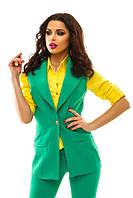 Женский модный жилет т. креп-костюмная / разные цвета