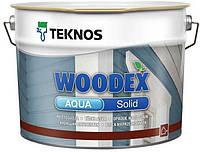 Кроющий антисептик Woodex Aqua Solid, 9л