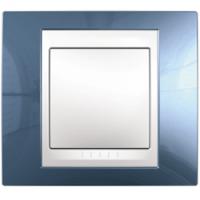 MGU6.002.854. Рамка 1-постовая. Unica Plus. Голубой лед/Белый Unica