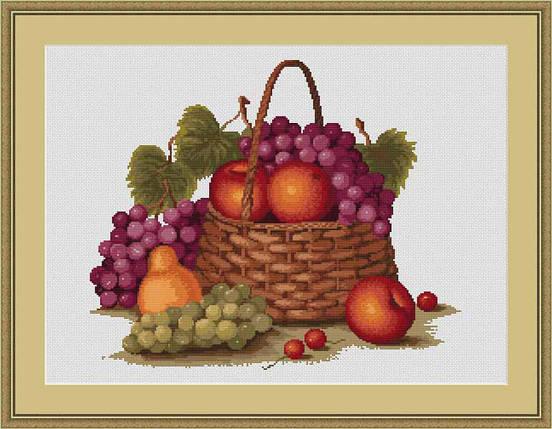"""Набор для вышивания нитками  """"Натюрморт с яблоками"""", фото 2"""