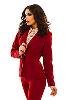 Женский модный пиджак т. креп-костюмная / разные цвета