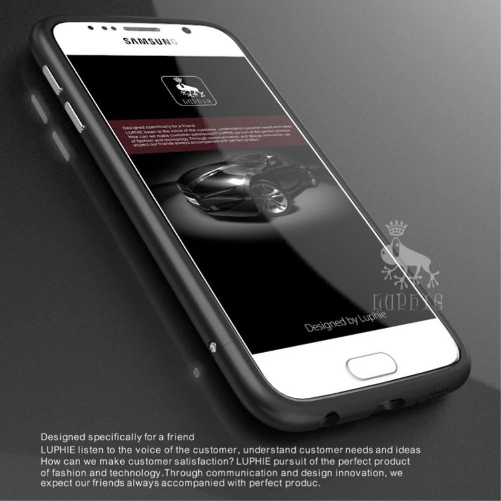 Чехол бампер металл Luphie Rapier Series для Samsung Galaxy S6 G920 черный