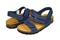 Мужские босоножки на ортопедической подошве inblu 5943skсин синие   летние