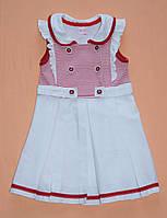 Платье 2-3-4-5 лет Морячка красный