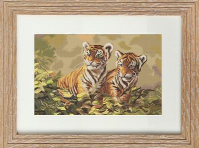 "Набор для вышивания нитками  ""Тигрята"""