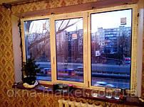 """Трехстворчатые пластиковые окна РЕХАУ с ручкой Rehau - фирма оконная """"Окна Маркет"""" (098) 777-31-49"""