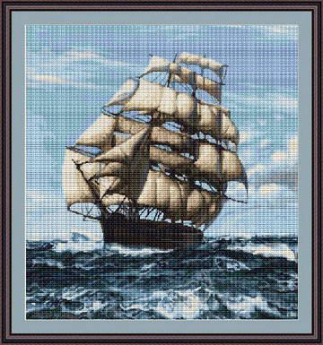 """Набор для вышивания нитками  """"Корабль"""", фото 2"""
