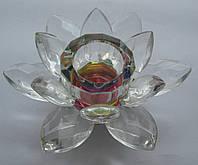 Подсвечник Лотос стекло  высота 3,5 см. диаметр 6,5 см.