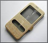 Золотистый Silk MC чехол-книжка для смартфона Meizu M2 Note, фото 2