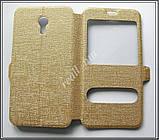 Золотистый Silk MC чехол-книжка для смартфона Meizu M2 Note, фото 7