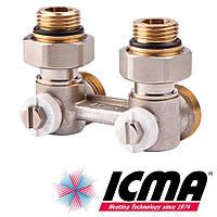 Icma 913 узел нижнего подключения 1/2х3/4 угловой двухтрубный