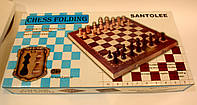 Шахматы деревянные магнитные 39.5 см., фото 1