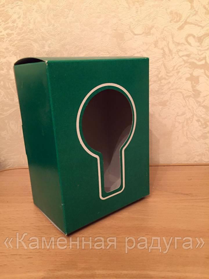Коробка картонная зеленая (большая)