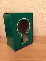 Коробка картонная зеленая (маленькая)