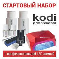 Стартовый набор для покрытия ногтей гель лаком № 12 (12 предметов) с LED лампой 18 W