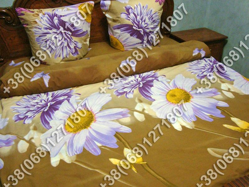 Постельное белье ранфорс - полуторный комплект (0711)