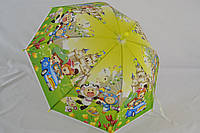 """Детский зонтик трость c ярким и веселым узором на 4-6 лет от фирмы """"Love Rain""""."""