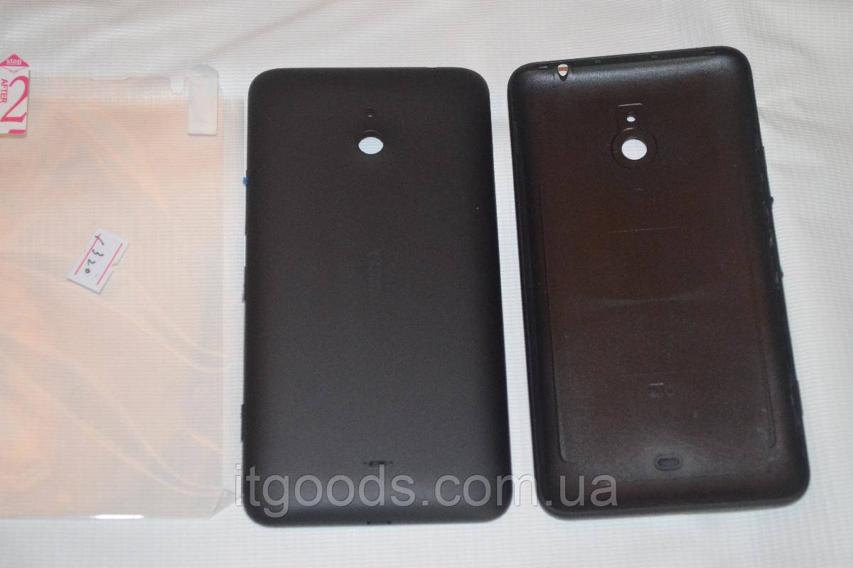 Задняя черная крышка для Nokia Lumia 1320 + ПЛЕНКА В ПОДАРОК