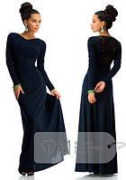 """Женское нарядное  Платье """" спина гипюр"""" 4 цвета, фото 1"""