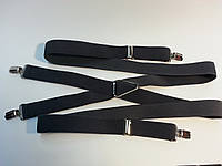 Подтяжки польские узкие темно-серые
