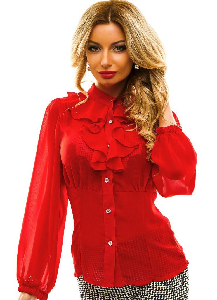 Женская нарядная блузка жабо -