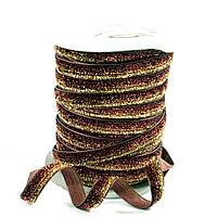 Бархатная лента с люрексом 18611 (ширина 1,0 см, длина 25 ярд)
