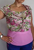 Блуза с шифоновой драпировкой Philippe Carat, фото 1