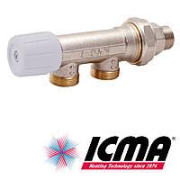 Icma 856 ручной вентиль 1/2 - 24х1,5 с боковым управлением