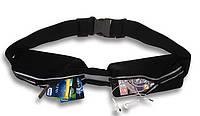 Пояс для бега, сумка на пояс для телефона, кошелька, ключей и т.д. Elastic WaistPack